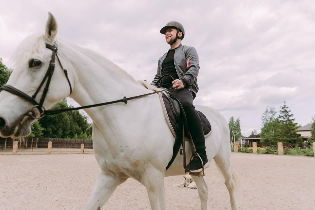 Reiter mit Helm